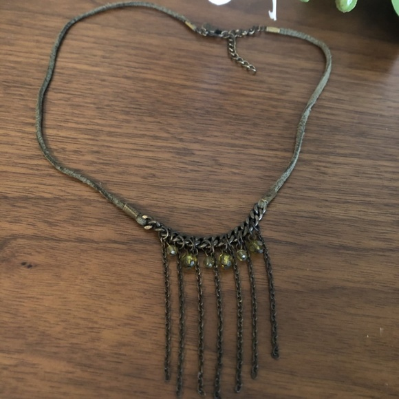 $10 ADD ON / Green Suede choker necklace